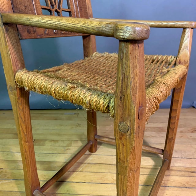 1823 Danish Carved Pine and Rope Armchair, Crowned Monogram For Sale In New York - Image 6 of 12