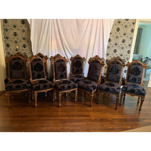 Renaissance Revival Dining Chairs Set of 12 For Sale - Image 9 of 13
