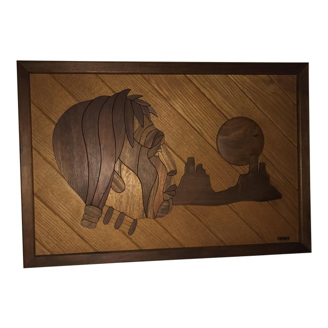 Dave Criner Wooden Inlay Sculpture For Sale
