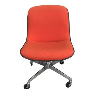 1970s Vintage Steelcase for Knoll Orange Office Chair For Sale