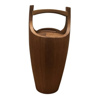 1960s Mid-Century Modern Dansk Teak Ice Bucket For Sale