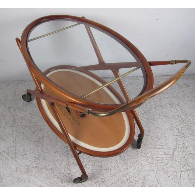 Italian Modern Serving Cart by Cesare Lacca For Sale - Image 5 of 9