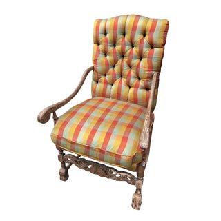 19th Century Vintage Fauteuil a La Reine Louis XIV Chair For Sale