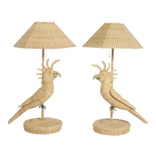 Mario Torres Cockatoo Table Lamps - A Pair For Sale