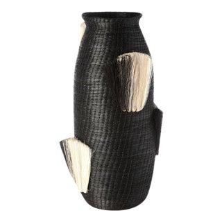 Fanned Out Large Tall Vase Black & Black Fans For Sale