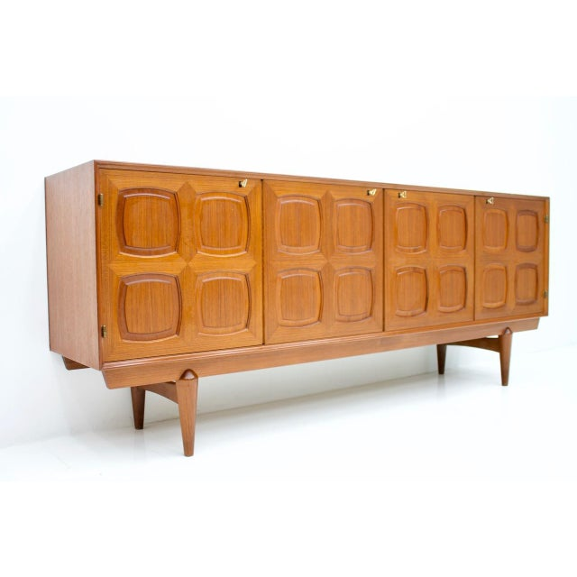 Gustav Bahus Graphic Teak Sideboard by Rastad & Relling for Bahus Norway 1960s For Sale - Image 4 of 9