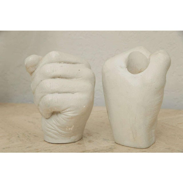 Richard Etts Plaster Candle Holders - a Pair For Sale In Miami - Image 6 of 10