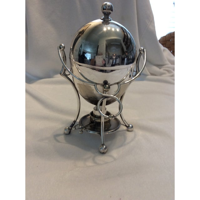 Metal Antique Silverplate Egg Warmer For Sale - Image 7 of 7