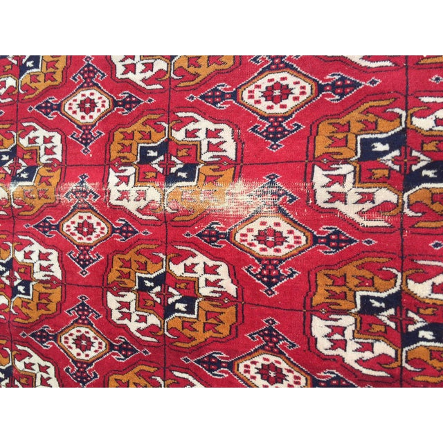 Antique Tribal Turkoman Bohkara Hand Knotted Wool Area Rug - 9′5″ × 12′8″ For Sale - Image 10 of 10