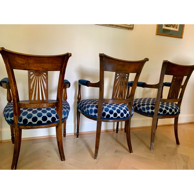 Late 18th Century Vintage French Armchairs- Set of 4 For Sale In Kansas City - Image 6 of 11