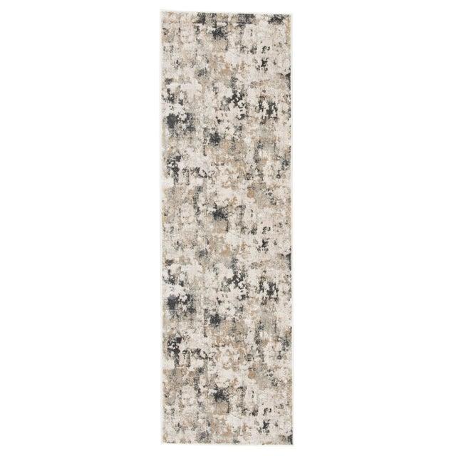 """Jaipur Living Lynne Abstract White Gray Runner Rug 2'6""""X8' For Sale - Image 10 of 12"""