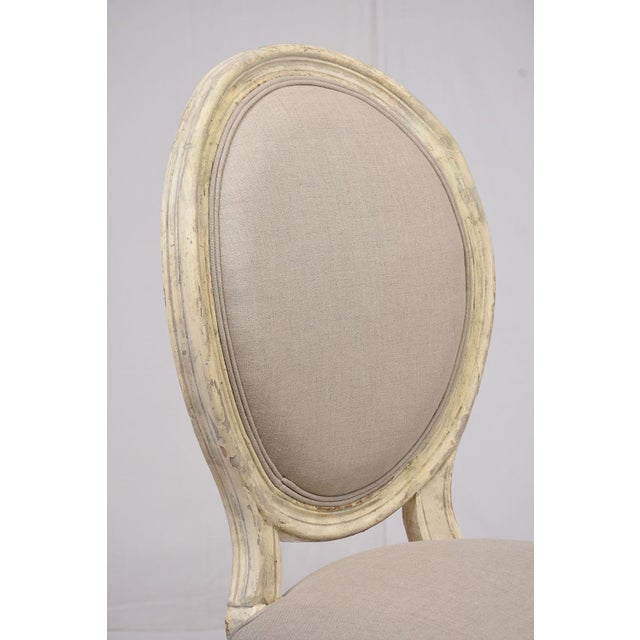 Antique French Louis XVI-Style Dining Chairs - Set of 6 - Image 6 of 10