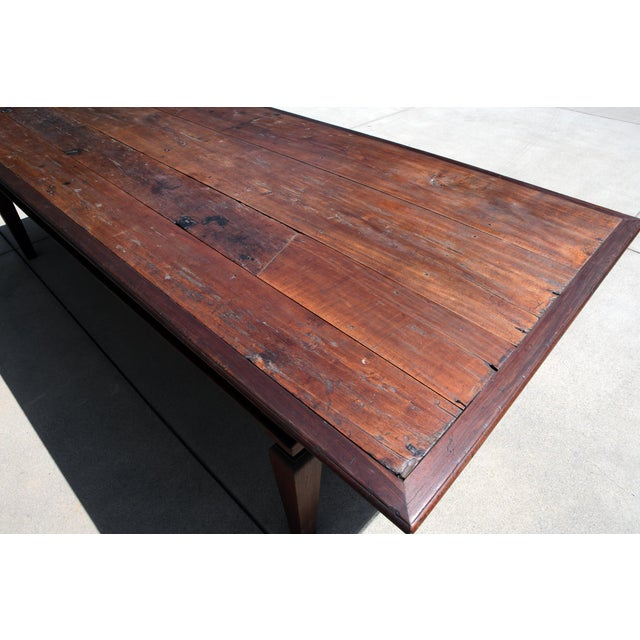 Wood 19th C. Portuguese Rosewood Dining Table For Sale - Image 7 of 11