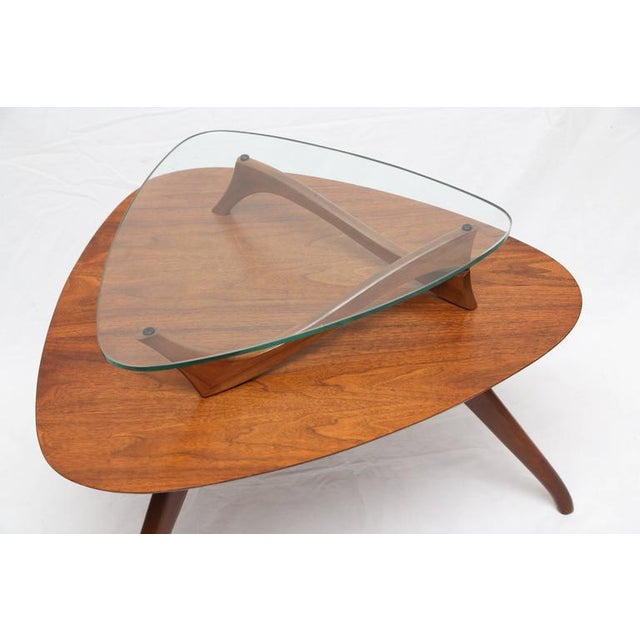 1960s American Vladimir Kagan Style Side Table For Sale - Image 4 of 8
