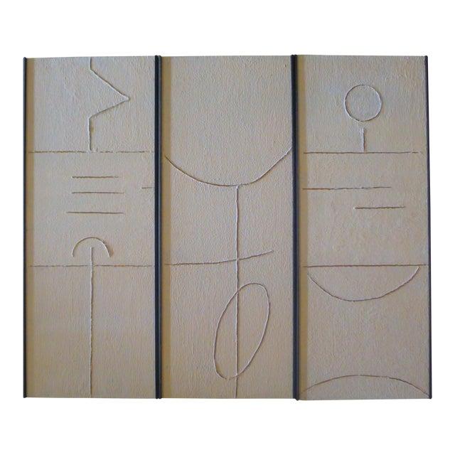 Gesso Art Triptych by Paul Marra For Sale