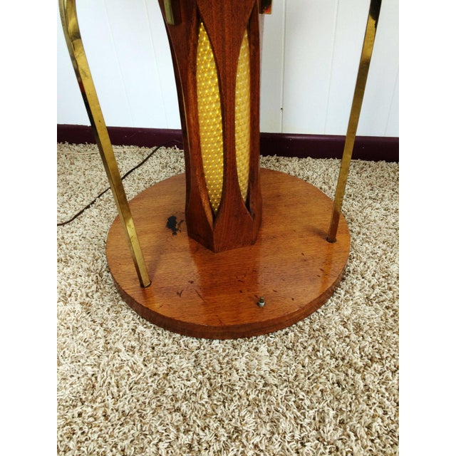Mid-Century Wood & Glass Coffee & Lighted Side Table - Set of 3 For Sale - Image 10 of 10