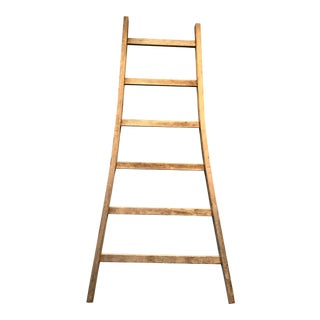 Antique French Wooden Ladder For Sale