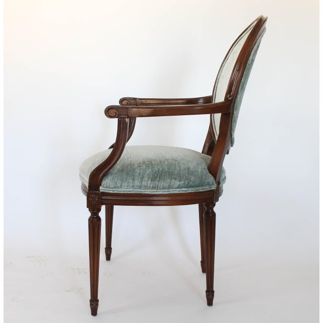 French Oval-Back Fauteuil For Sale - Image 3 of 12