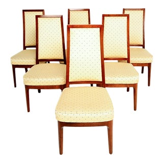 1950s Walnut Dining Chairs by Kipp Stewart for Cal-Mode Furniture - Set of 6 For Sale