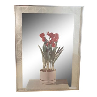 Greg Copeland Trompe l'Oeil Tulips Optical Op Art Mirror For Sale