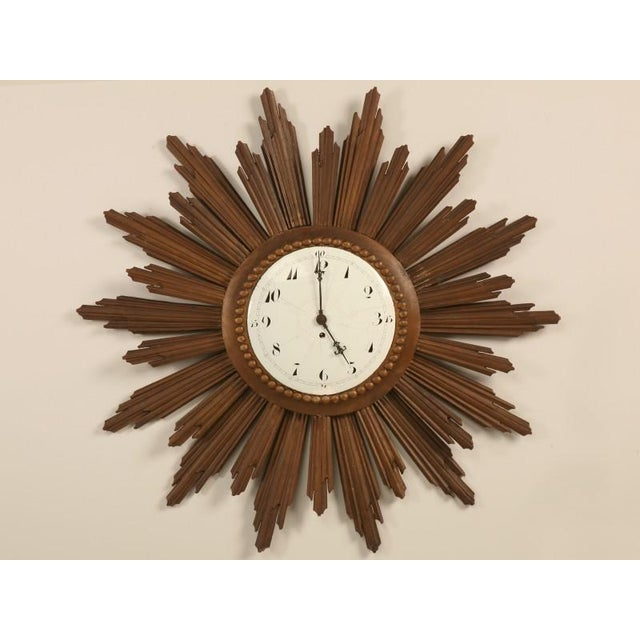Fabulous find, this amazing sunburst clock is one of only two we have ever had the opportunity of owning, the other is in...