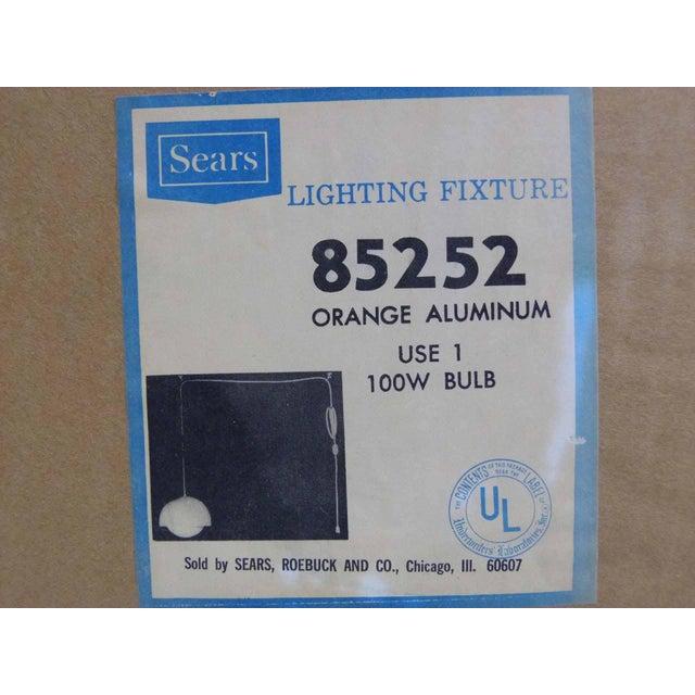 Orange Dome Mid-Century Pendant Lamp For Sale - Image 7 of 9