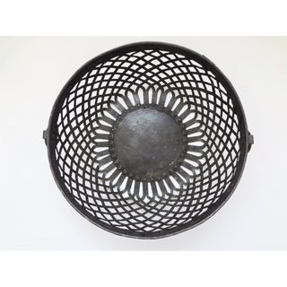 Early 20th Century Vintage Rustic Handmade Trellis Basket Preview