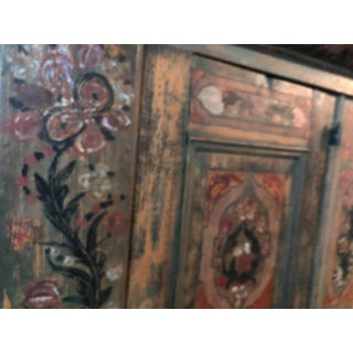 Vintage Style Swiss Painted Pine Armoire Preview