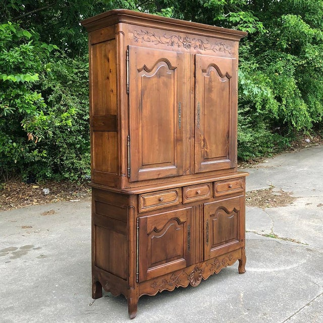 Country 19th Century Country French Fruitwood Buffet a Deux Corps For Sale - Image 3 of 13