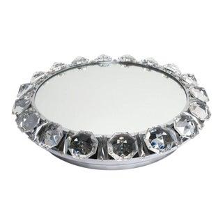 Bakalowits Crystal Diamond Backlit Mirror Glass Chrome, Austria, 1950 For Sale