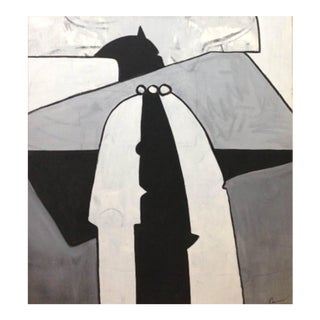 "Contemporary Abstract Painting ""El Vigilante"" by Maximo Caminero For Sale"