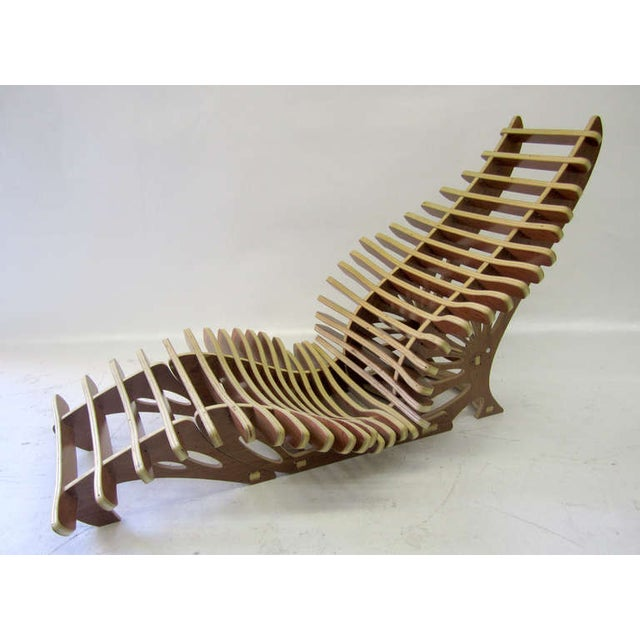 Primitive Sculptural Vertebrae Chaise and Ottoman Set For Sale - Image 3 of 5