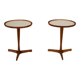 Pair of Danish Teak Hans Andersen Side Tables For Sale