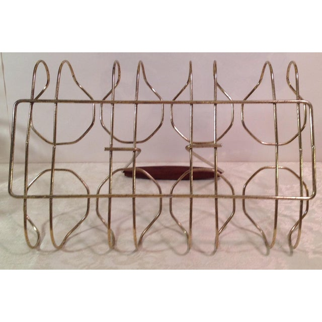 Mid-Century Modern Duck Glasses With Caddy- Set of 8 - Image 6 of 6