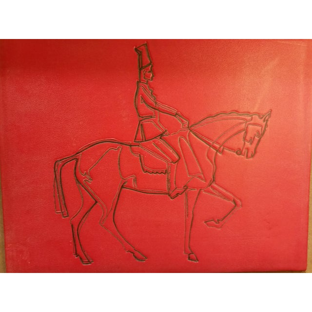 Embossed Leather Horse & Rider Wall Hanging - Image 3 of 6