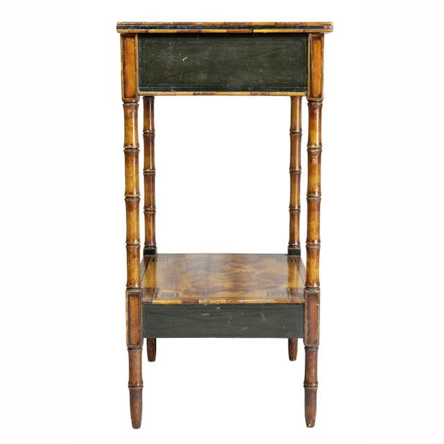 Regency Stencilled and Painted Side Table For Sale - Image 11 of 13