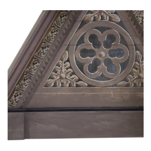 Pair of triangular Italian Architectural Elements Height: 70 in Width: 72 in Depth: 7 in