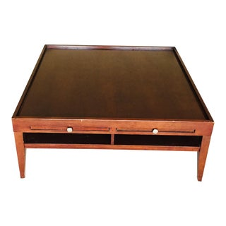 1960s Mid-Century Modern Wooden Coffee Table