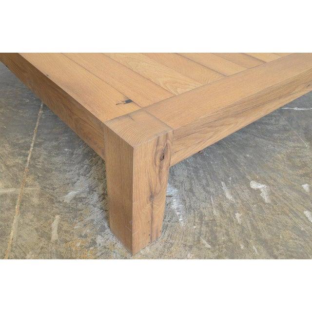 Contemporary Ozshop Antique Oak Parson's Coffee Table - Square For Sale - Image 3 of 6