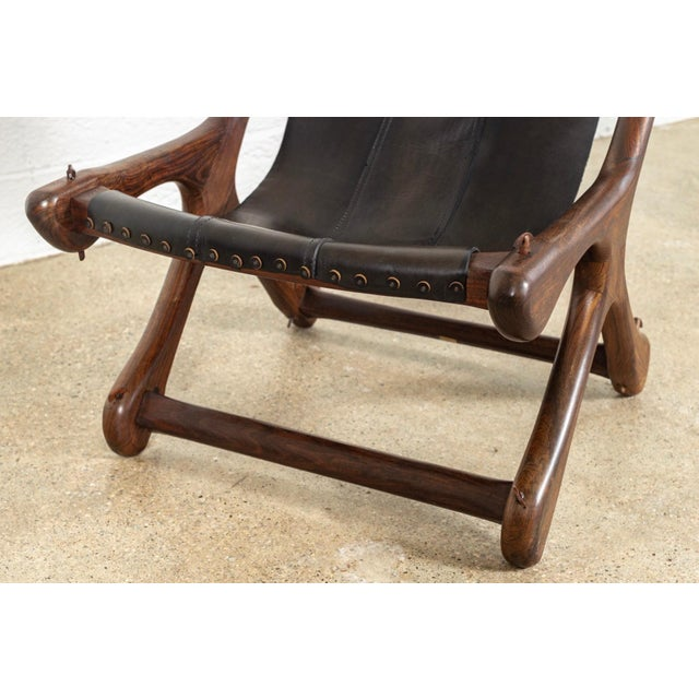 1960s Mid Century Mexican Modern Don Shoemaker Sling Chair For Sale - Image 5 of 10