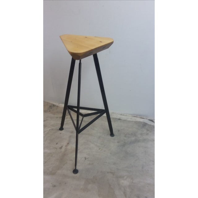 "Seat dimension is: 12.5"" x 12.5 "" triangle 2"" thick Base is 29-1/2"" h , top plate is 5"" DIA , bottom is 18"" x 18"" x 18""..."