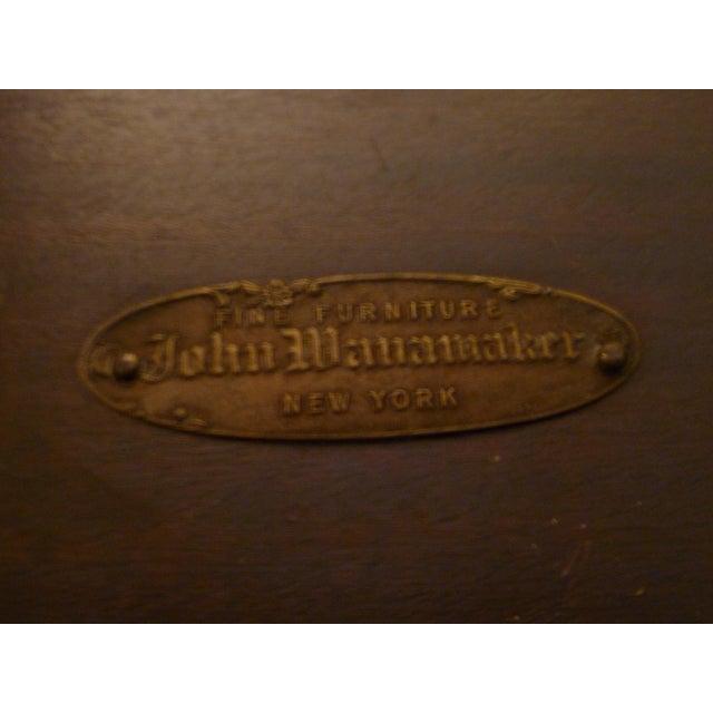 Orange Vintage John Wanamaker NY Regency Style Burl Walnut Coffee Table For Sale - Image 8 of 8