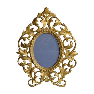 Rococo-Style Gilt Brass Photo Frame For Sale