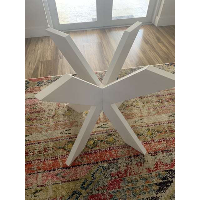 White Lacquer X Table Base For Sale In Miami - Image 6 of 13