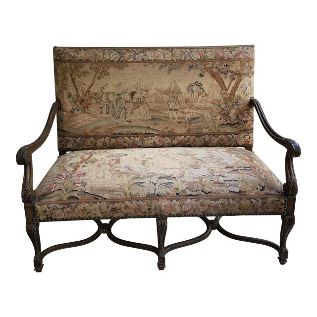 Louis XIV Style Giltwood Settee For Sale