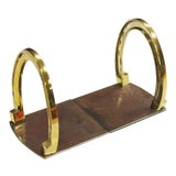 Image of Pair of Brass Horseshoe Bookends For Sale