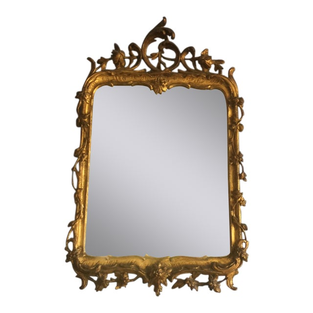 Late 18th Century Rococo Style Giltwood Mirror For Sale