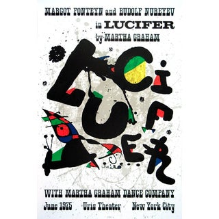 1975 Joan Miro 'Lucifer' Surrealism Multicolor France Lithograph For Sale