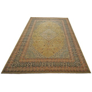 "Pasargad Tabriz Wool Area Rug- 12'0"" x 18'0"" For Sale"