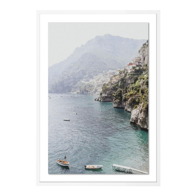 Bagni d'Arienzo II by Natalie Obradovich in White Framed Paper, Large Art Print For Sale